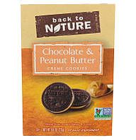 Back to Nature, Печенье из сливочного крема с шоколадом и арахисом, 272 г