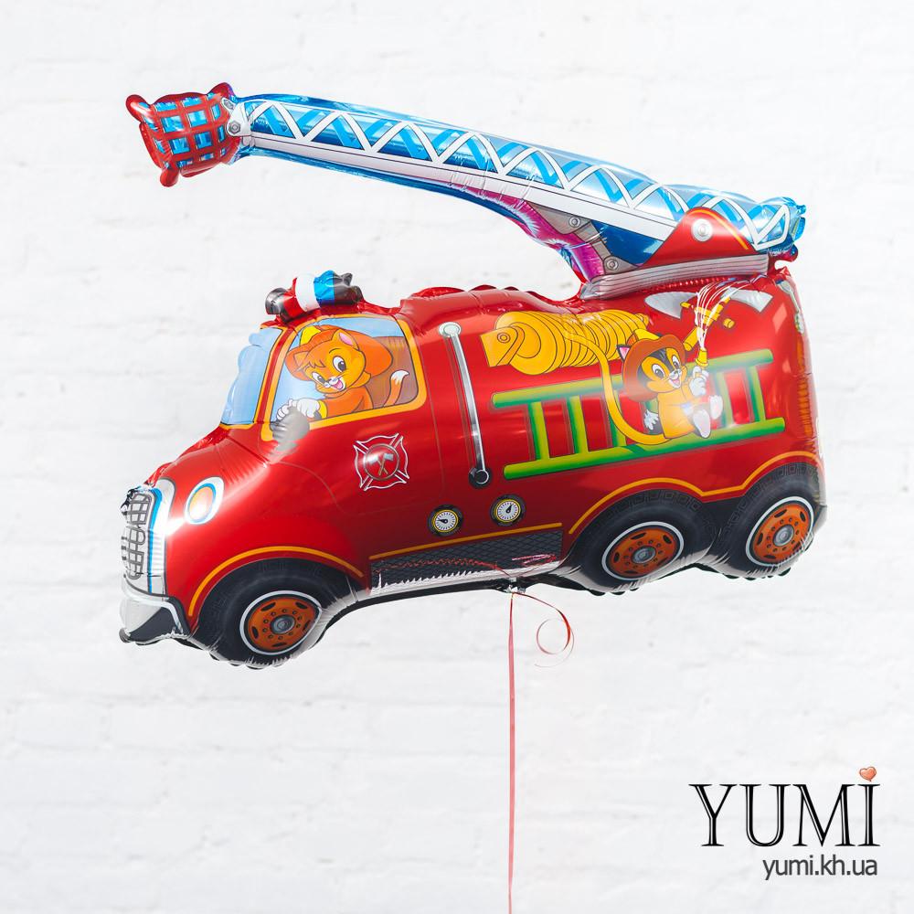 Воздушный шарик с гелием Пожарная машина