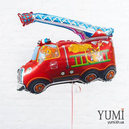 Воздушный шарик с гелием Пожарная машина, фото 2