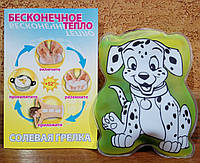 Солевая грелка ДельтаТерм - Долматинец - удобная форма для детей, нежное тепло до +52 градусов