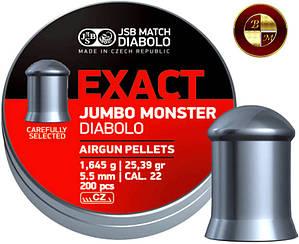Кулі JSB Diabolo EXACT JUMBO MONSTER 5,52 mm. 200шт. 1,645 р.