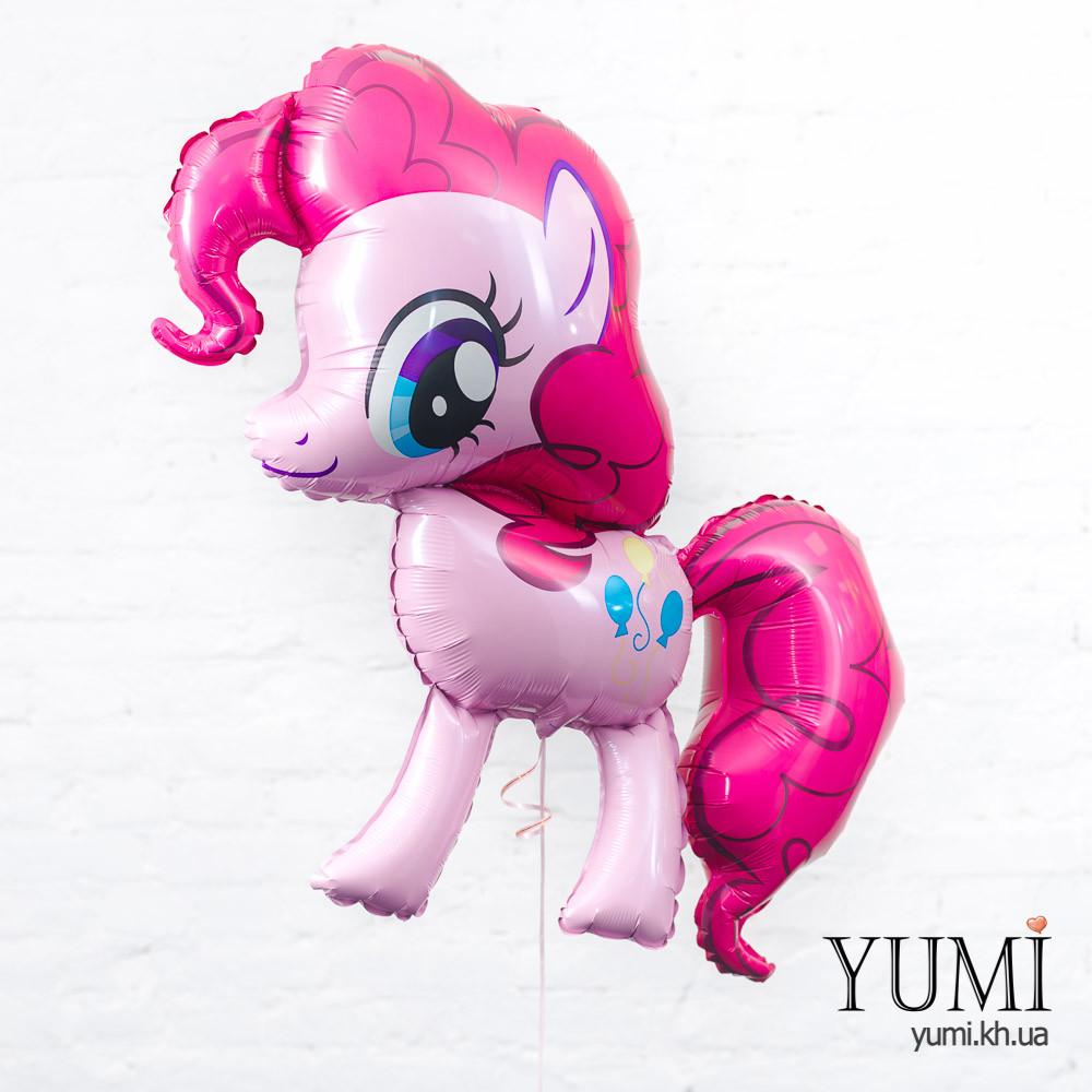 Воздушный фольгированный шар с гелием Пинки Пай лошадка розовая
