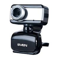 Веб-камера 0.3 Мп з мікрофоном Sven IC-320 Black (IC-320 (SVEN) - веб-камера)