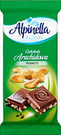Шоколад Alpinella альпинелла (молочный шоколад с арахисом)