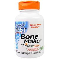 Doctor's Best, Комплекс для укрепления костей с Bonolive, 250 мг, 60 вегетарианских капсул