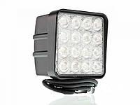 Фара LED квадратна 48W, 16 ламп, 110*164мм, широкий луч 12/24В (ТМ JUBANA)