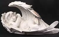 Скульптура Ангел в крылышках №3 38*20 см полимер
