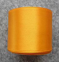 Лента атласная 40 мм, желтая