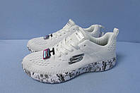 Кроссовки Скечерс реплика 12739-1 белые код 0562А