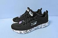 Кроссовки Скечерс реплика 12739-3 черные код 0563А