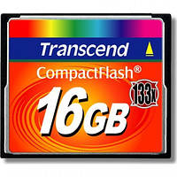 Карта памяти Compact Flash 16Gb 133х Transcend (TS16GCF133)
