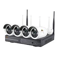 Набор видеонаблюдения для улицы Wi-Fi Partizan IP-22 4xCAM + 1xNVR . Гарантия 3 года!
