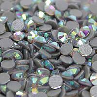 Cтразы ДМС+ .Crystal AB ss12(3mm).Горячая фиксация.Цена за 100шт
