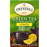 Twinings, Зеленый чай с ароматом лимона, 20 чайных пакетиков, 1,41 унции (40 г)