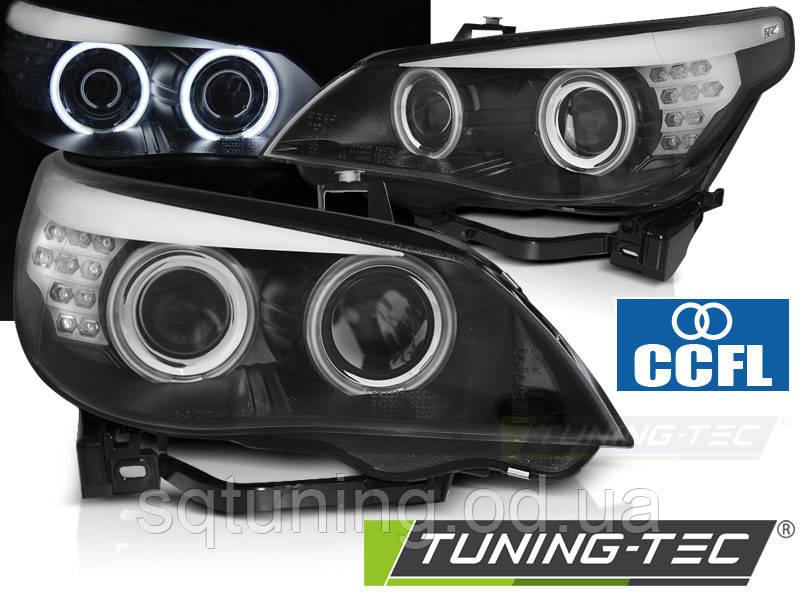 Фари BMW E60/E61 03-07 ANGEL EYES CCFL BLACK LED INDIC.