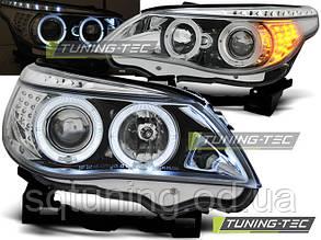 Фары BMW E60/E61 03-07 ANGEL EYES CHROME LED INDIC.