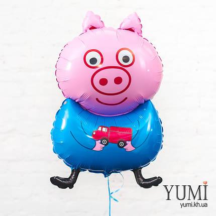 Воздушный фольгированный шарик Поросенок Джордж, фото 2
