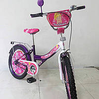 "Велосипед детский 2+2 колесный TILLY Балеринка 20"" T-22029 purple + white"