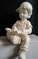 Статуя Мальчик в кепке 37 см полимер