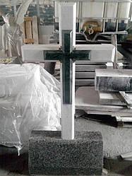 Мраморный крест №8