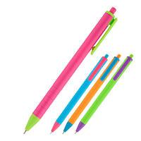 Ручка масляная автоматическая Axent Reporter Color AB1069-02-A, синяя