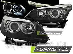 Фары BMW E60/E61 03-07 LED ANGEL EYES H7/H7 BLACK