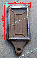 Задвижка (заслонка) печная чугунная (125х230 мм), фото 1