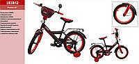 Велосипед 2-х колес 18'' 181842 со звонком,зеркалом,руч.тормоз,без доп.колес
