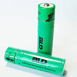 Аккумулятор литиевый 18650 с USB, BLD, 3.7В, 3800mAh, Li-ion, фото 3