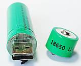 Аккумулятор литиевый 18650 с USB, BLD, 3.7В, 3800mAh, Li-ion, фото 2