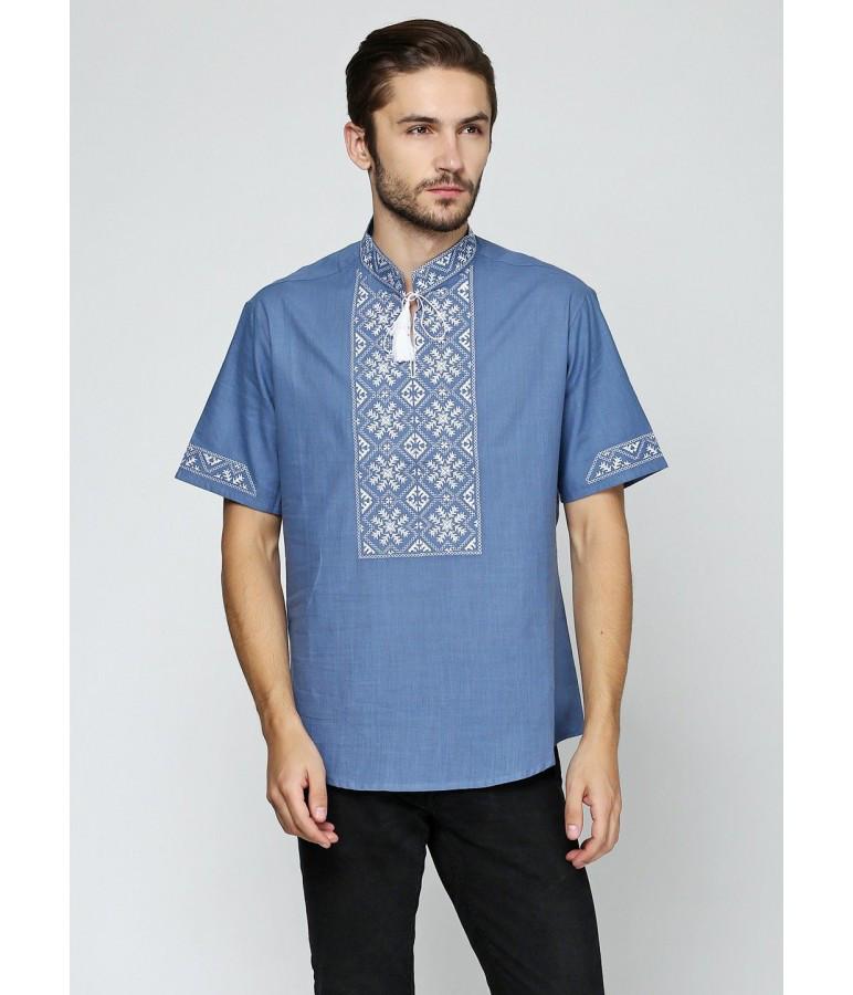 Вышитая футболка крестиком. Мужская футболка в украинском стиле. Футболка вышиванка. Сучасні вишиванки.