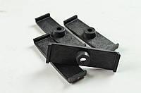 Планка (скоба) прижимная для крепления электропроводки (цвет чёрный)