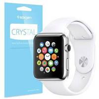 Защитная пленка Apple Watch 38mm прозрачная Spigen Screen Protector Crystal (3 pcs of Front) (SGP11482)