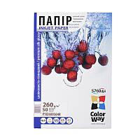 Папір 10*15 20л сатин мікропористий 260г/м2 PS260-20 ColorWay (PS2600204R)