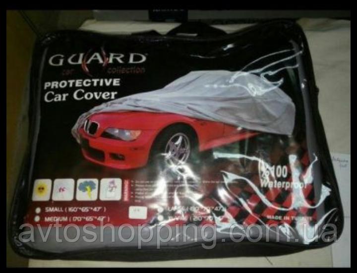 Тент, чехол для автомобиля Седан с подкладкой Guard S Серый  406х165х120 см