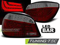 Задние фонари BMW E60 07.03-02.07 RED SMOKE LED BAR