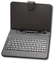 """Чохол-книжка універсальний 7.0"""" + клавіатура Nomi KC 070 Чорний"""