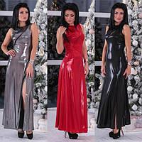 Нарядное женское блестящее длинное платье