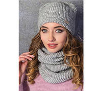Женская зимняя шапка на флисе Ушки