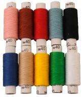 Нитка швейная №40, упак.10 шт, разные цвета, ассорти
