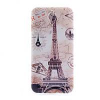 Накладка для Asus ZenFone C (ZC451CG) силикон 0,3mm Infinity Slim Glamour Эйфелева башня -34680