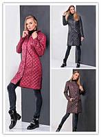 Укороченное демисезонное женское пальто на синтепоне