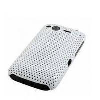 Накладка для HTC Desire S сетка белый