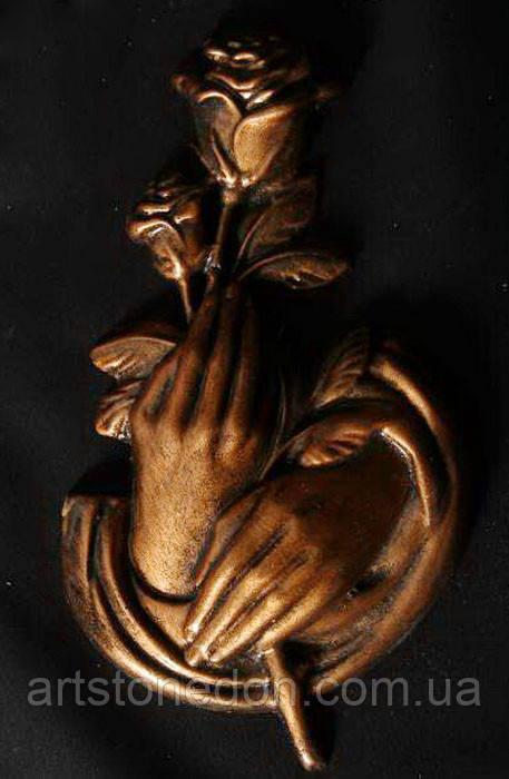 Накладка Руки с розой № 602 - 18 см полимер