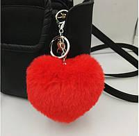 Брелок цердце, цвет красный