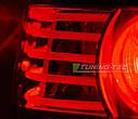 Задние фонари BMW E60 07.03-07 RED WHITE LED, фото 6