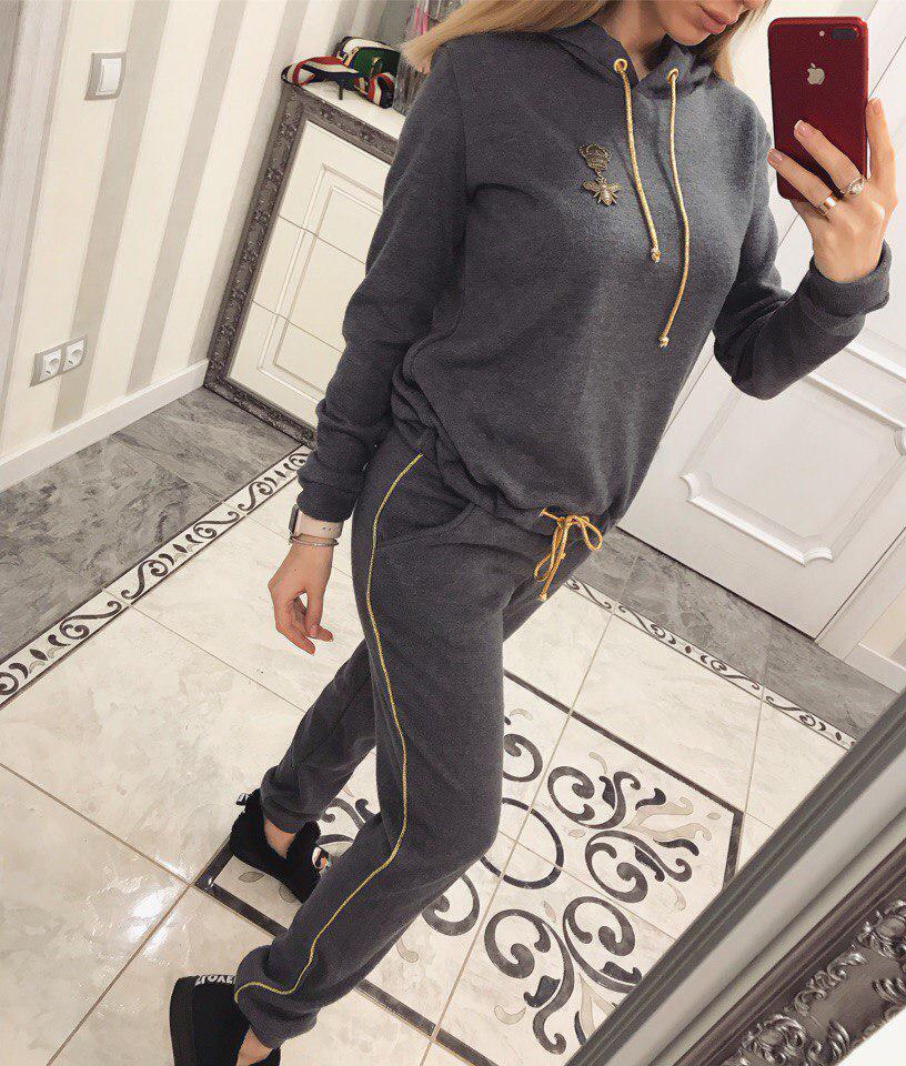 Тёплый спортивный костюм из ангоры(серый)