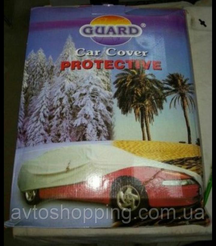 Тент, чехол для автомобиля Хэтчбэк с подкладкой Guard 4 Серый 370х158х143 см