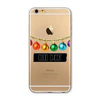 Накладка для iPhone 6/6s силикон 0,3mm Infinity Slim Glamour Новогодние игрушки