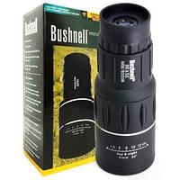 Монокуляр Bushnell 16x52 стекло, Оригинал, бинокль с двойнмы фокусом, защитный клапан линз